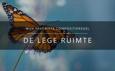 Mijn favoriete compositie-regel: de lege ruimte